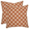 <strong>Safavieh</strong> Alice Cotton Decorative Pillow (Set of 2)