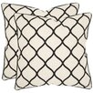<strong>Safavieh</strong> Eliza Cotton / Linen Decorative Pillow (Set of 2)