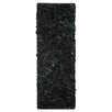 <strong>Leather Shag Black Rug</strong> by Safavieh