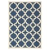 <strong>Safavieh</strong> Courtyard Navy / Beige Outdoor Rug
