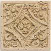 "Mohawk Flooring Artistic Accent Statements 4-1/4"" x 4-1/4"" Filigree Insert in Travertine"