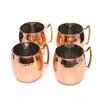 <strong>Old Dutch International</strong> HiMoscow Hammered Mule Mug (Set of 4)
