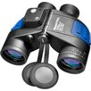 7x50 WP Deep Sea Binoculars, with Internal Rangefinder and Compass, Individual Focus, FLOATS, FMC, Blue Lens