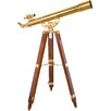 36 Power, 90080 Brass Refractor Telescope, Anchormaster with Mahogany Floor Tripod