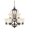 <strong>Wildon Home ®</strong> Vanguard 9 Light Chandelier