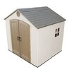 """<strong>8' W x 7'5"""" D Plastic Storage Shed</strong> by Lifetime"""