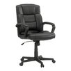 Sauder Gruga Manager's Mid-Back Leather Executive Office Chair I