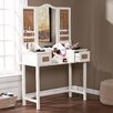 Wildon Home ® Monterey Vanity Desk with Mirror and Jewelry Storage