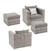 Wildon Home ® Bennett 4 Piece Deep Seating Group with Cushion