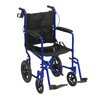 Drive Medical Lightweight Expedition Transport Wheelchair with Hand Brakes