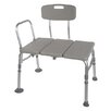 Drive Medical Plastic Transfer Bench with Adjustable Backrest