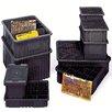 "Quantum Storage Conductive Dividable Grid Storage Containers (3"" H x 17 1/2"" W x 22 1/2"" D) (Set of 6)"