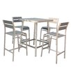 Boraam Industries Inc Brava 5 Piece Bar Height Dining Set
