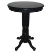 Florence Pedestal Pub Table in Black Sandthru