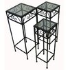 <strong>Pangaea Home and Garden</strong> 3 Piece Nesting Tables