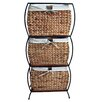 Pangaea Home and Garden Seagrass Rattan 3 Drawer Basket Storage File Cabinet