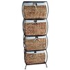 Seagrass Rattan 4 Drawer Basket Storage File Cabinet