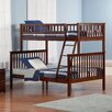 Atlantic Furniture Woodland Twin Over Full Standard Bunk Bed