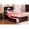 Atlantic Furniture Urban Lifestyle Newport Bookcase Bed with Bed Drawers Set