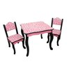 Teamson Kids Kids Leopard 3 Piece Rectangle Table and Chair Set