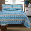 <strong>Simple Luxury</strong> Zig Zag 100 Cotton 2 Piece Quilt Set