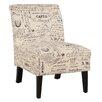 Linon Linen Script Lily Side Chair