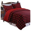 Greenland Home Fashions Western Plaid Quilt Set