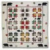 <strong>Bear's Paw Cotton Throw Quilt</strong> by Patch Magic
