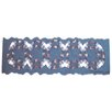 "Patch Magic Blue Double Wedding Ring 54"" Curtain Valance"