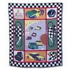 <strong>Racecar Cotton Throw Quilt</strong> by Patch Magic