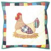 Patch Magic Rooster Toss Pillow
