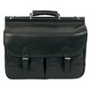 <strong>Dr. Koffer Fine Leather Accessories</strong> Gregory Leather Laptop Briefcase