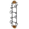 <strong>StyleCraft</strong> 4 Bottle Wall Wine Rack with Wood Accents