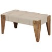 StyleCraft Driftwood Upholstered Bedroom Bench