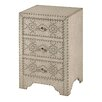 StyleCraft 3 Drawer Night Stand
