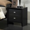 Global Furniture USA Carolina 2 Drawer Nightstand