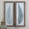 Uttermost Tall Leaves 2 Piece Framed Painting Print Set