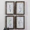 <strong>Uttermost</strong> Grasses 4 Piece Framed Painting Print Set