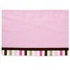 Mod Dots and Stripes Valance in Pink / Chocolate