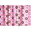 <strong>Bacati</strong> Mod Dots Cotton Rod Pocket Curtain Single Panel