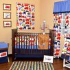 Bacati Transportation 10 Piece Crib Bedding Set with Bumper
