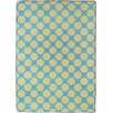 17 Magazine Rugs Flirty Blue / Yellow Kids Rug