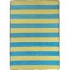 17 Magazine Rugs Flirty Blue / Yellow Stripes Kids Rug