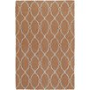 Jill Rosenwald Rugs Fallon Chocolate/Pale Beige Area Rug