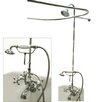 Elements of Design Vintage Volume Control Tub and Shower Faucets with Metal Cross Handles