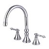 Double Handle Deck Mount Solid Brass Roman Tub Faucet Trim Templeton Lever Handle