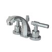 <strong>Elements of Design</strong> Milano Mini Widespread Bathroom Faucet with Double Lever Handles