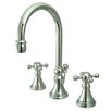 <strong>Elements of Design</strong> Madison Widespread Bathroom Faucet with Double Cross Handles