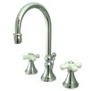<strong>Elements of Design</strong> Madison Widespread Bathroom Faucet with Double Porcelain Cross Handles