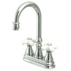 <strong>Elements of Design</strong> Madison Centerset Bar Faucet with Porcelain Cross Handles